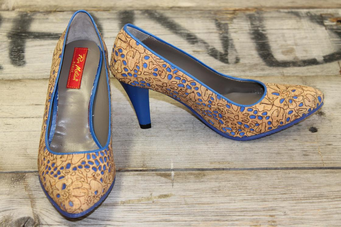 Shoelia Cork Ocean Pumps Pepe Milan